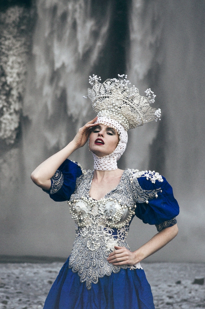 Model: Grace Gray Dress & headpiece: Agnieszka Osipa Stylist: Minna Attala Hair & makeup: Grace Gray Producer: Miss Aniela