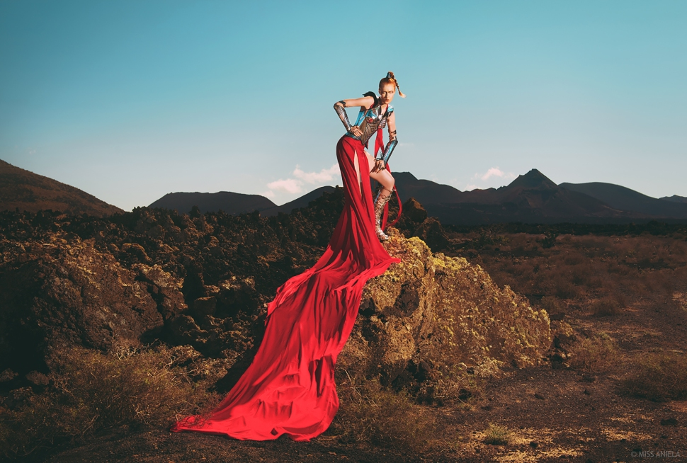 Model: Kim Davis / Dress & styling: Miss Aniela & Minna Attala / Armour: Divamp Couture / Hair and makeup by Elbie van Eeden / Production: Miss Aniela / Assistant: Brent McCombs